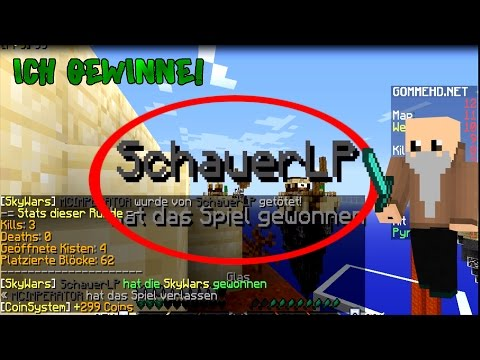 ICH GEWINNE AUF GOMME !!! Road to 80.000 Coins Let's Play Minecraft Skywars (Deutsch/German)